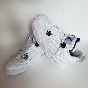 Air Jordan 4 Retro Metallic Purple GS Size US 6.5Y